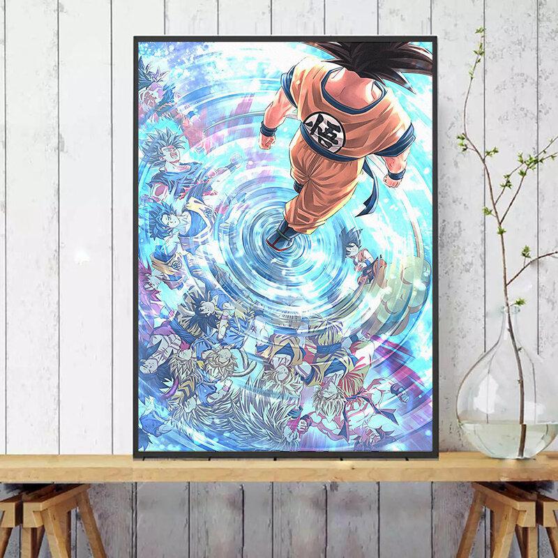 غوكو المشارك والمطبوعات انمي ياباني قماش اللوحة ديكور جدران المنزل صورة لغرفة المعيشة صورة فنية حديثة ديكور المنزل