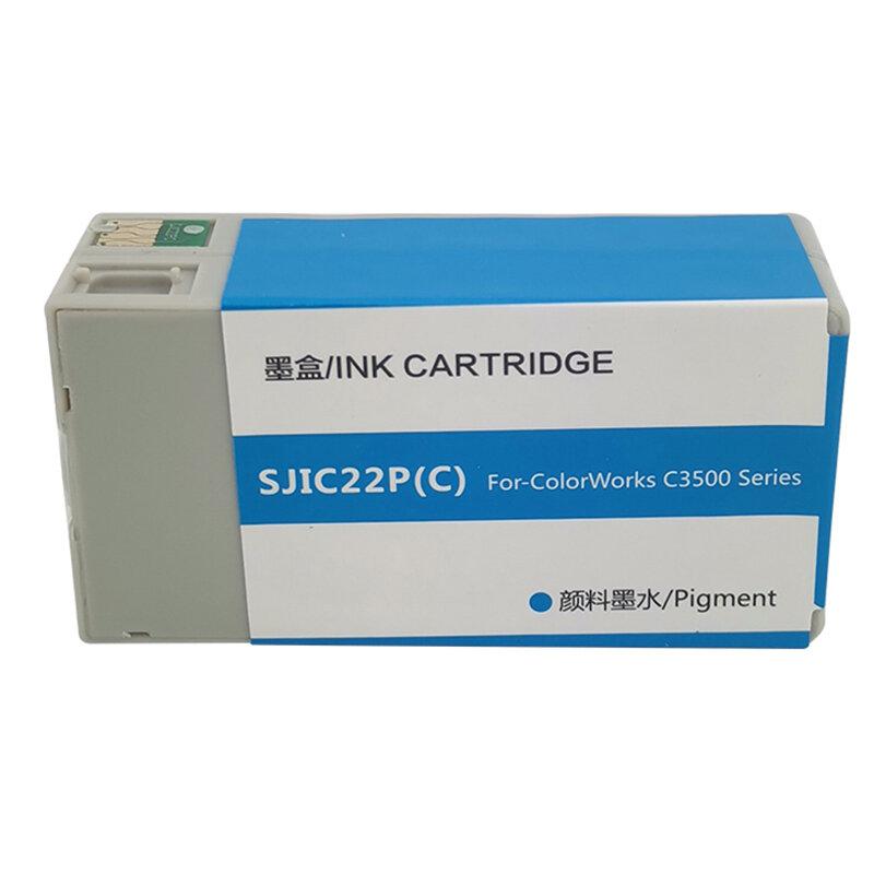 جديد SJIC22P خرطوشة الحبر المتوافقة مع الحبر الصباغ لإبسون SJIC22P لإبسون TM-C3500 لسلسلة Epson ColorWorks C3500