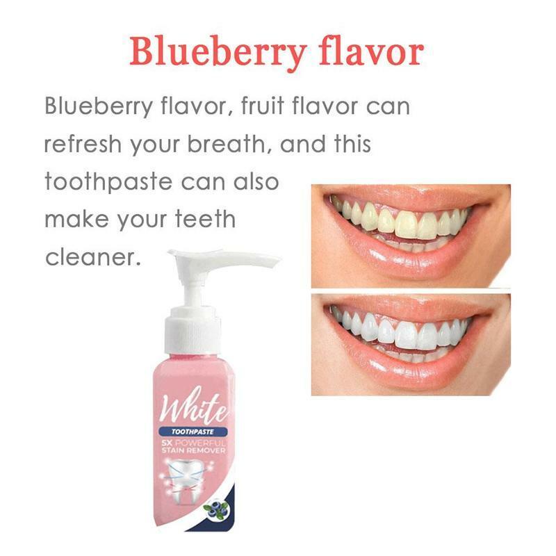 معجون الأسنان وصمة عار الدخان إزالة القهوة تقليل الأسنان الطازجة اللثة مكافحة تبييض نزيف معجون الأسنان معجون الأسنان الترابية K1E3