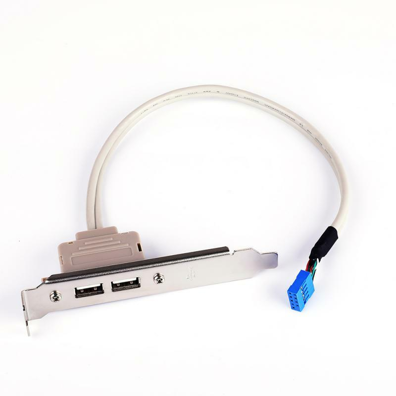 مزدوج ميناء USB توسيع يربك الخلفية اللوحة تمديد الحبل حاسوب شخصي مكتبي حافظة PCI USB 2.0 الكمبيوتر يربك سلك موصلات