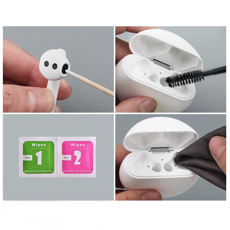 سماعات الأذن المتوافقة مع البلوتوث أدوات نظيفة لأجهزة Airpods Pro 2 1 شاومي إيردوتس هواوي فريبودز 2 برو مجموعة أدوات تنظيف الفرشاة