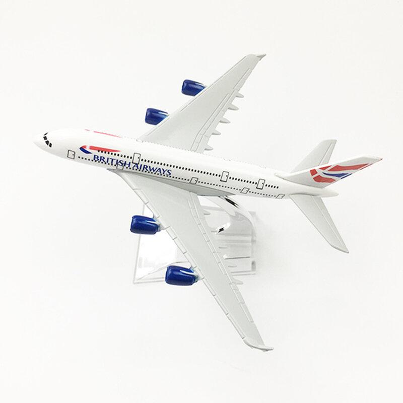 طراز طائرة ايرباص A380 للأطفال ، نموذج طائرة معدنية 16 سنتيمتر بمقياس 1:400 ، عرض قابل للجمع ، ألعاب هدايا