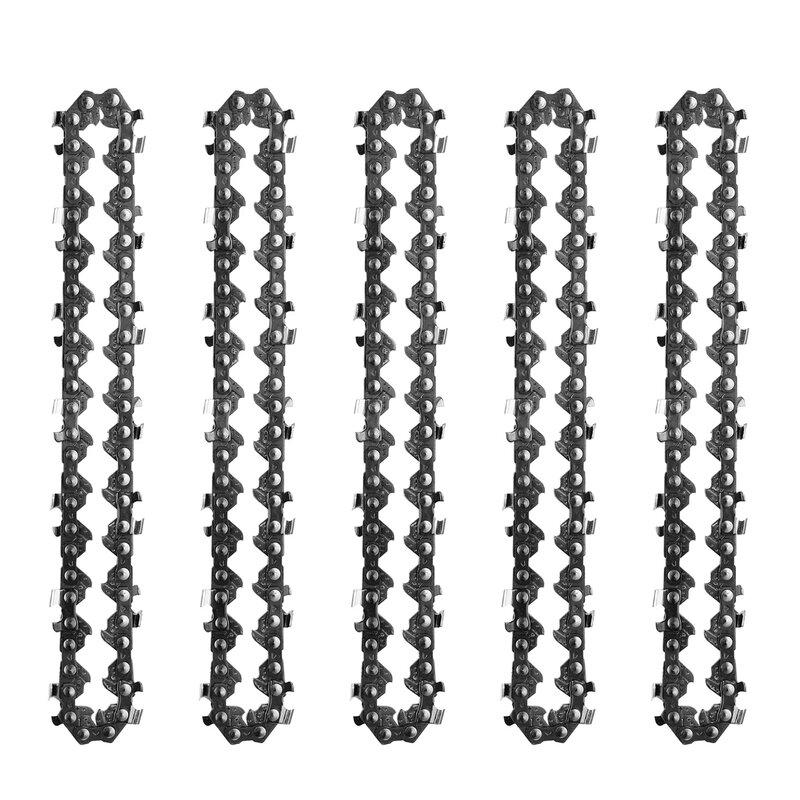 1/3/5 قطعة سلسلة بالمنشار الصغير 4 بوصة سلسلة بالمنشار دليل المنشار سلسلة 133 مللي متر استبدال ملحق لقطع الخشب