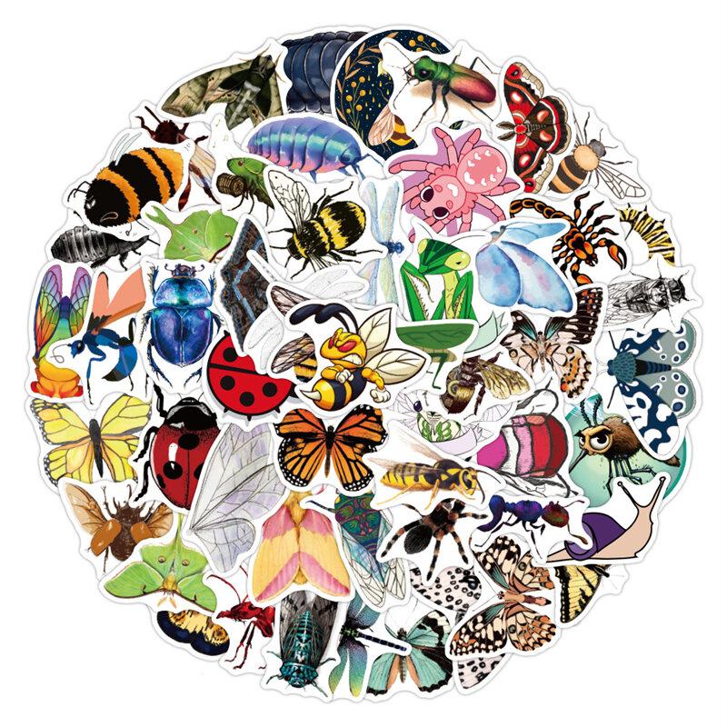 10/30/50 قطعة ملصقات خربش للحشرات على شكل حيوانات صغيرة شارات كرتونية خوذة مضادة للمياه ملصق للحاسوب المحمول لوح التزلج على الجدران