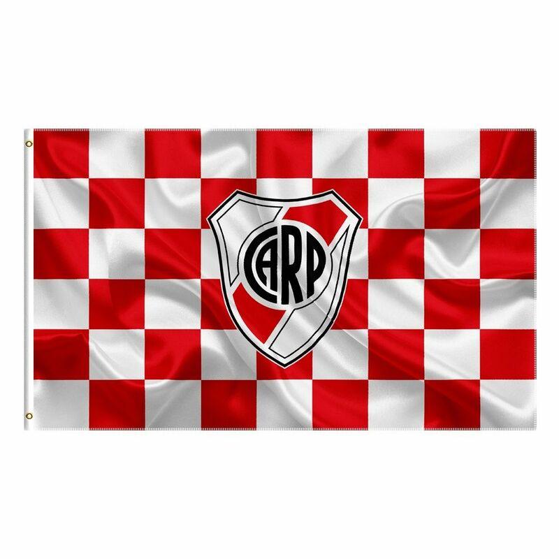 نهر لوحة العلم وراية 3x5 قدم الأرجنتين فوتبول كرة القدم بانديرا معلقة للديكور