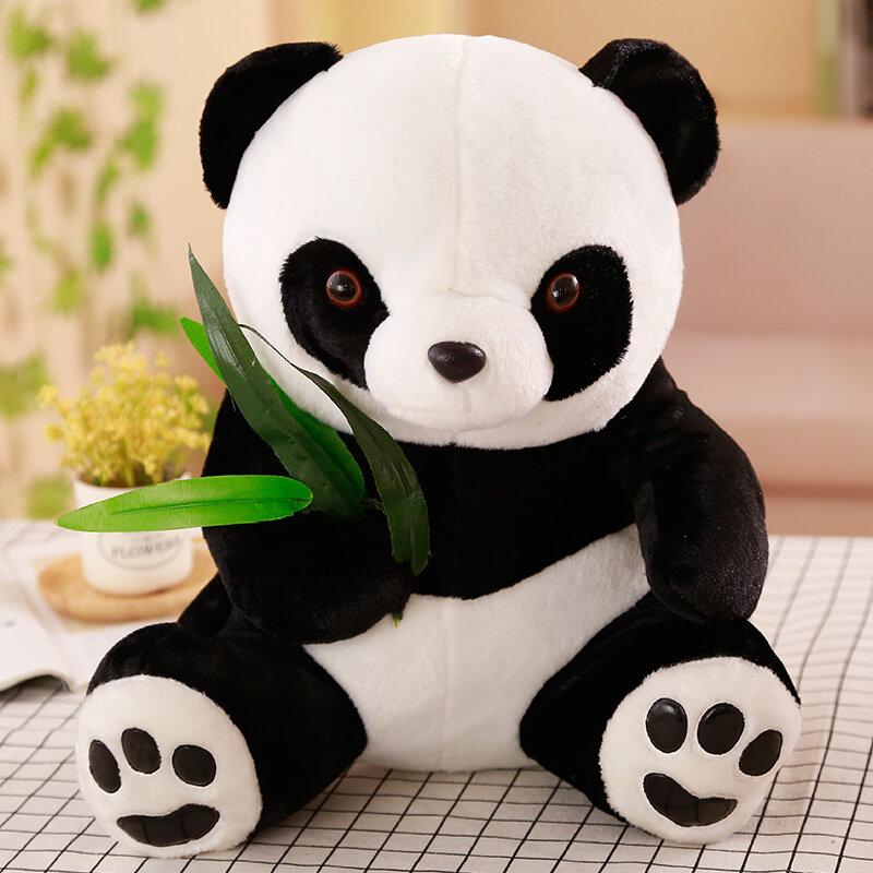 لعبة باندا محشوة بأوراق الخيزران ، 50 سنتيمتر ، حيوان كرتوني ناعم ، باندا أسود وأبيض ، هدية للأطفال