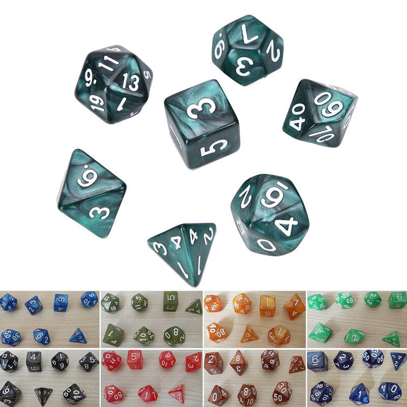 7 قطعة D10 متعددة الوجهين جوهرة النرد يموت لمجموعة الألعاب
