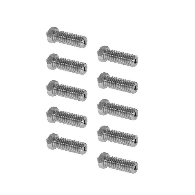 10 قطعة بركان ل فوهة إطالة الطارد رأس الطباعة 0.2/0.25/0.3/0.4/0.5/0.6/0.8/1.0/1.2 مللي متر ل 1.75 مللي متر/3 مللي متر Filamnet طابعة ثلاثية الأبعاد