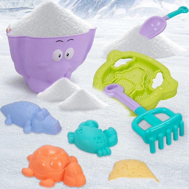 لينة البلاستيك الفيل ألعاب للشاطئ ألعاب رمل للأطفال دلو الرمل أشعل النار مجرفة مجموعة شاطئ السلاحف تمساح فرس النهر قوالب اللعب