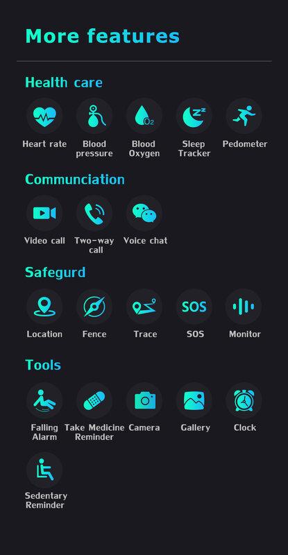 ساعة يد ذكية بجهاز تتبع فيديو للاتصال واي فاي بطاقة Sim Cramera بطارية 680mAh 4G ساعة ذكية للأولاد أندرويد IOS