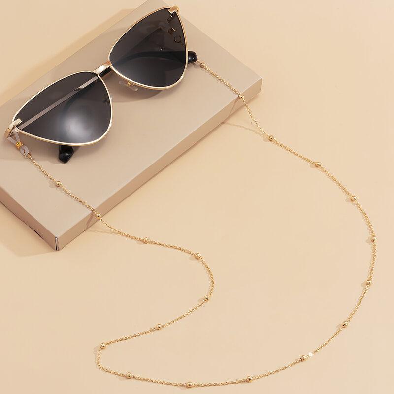 Lacteo Steampunk كرات الحديد سلسلة قلادة طويلة/نظارات موضة الرقبة حزام نظارة بإطار معدني النساء مجوهرات اكسسوارات الديكور