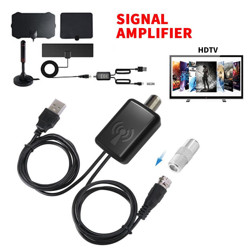 25db التلفزيون هوائي مكبر صوت أحادي الداعم ل HDTV التلفزيون هوائي إشارة الداعم هوائي منخفض الضوضاء سهلة التركيب التلفزيون استقبال