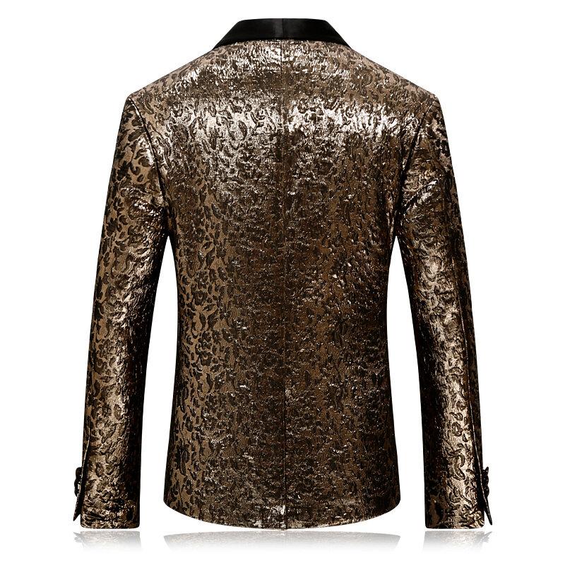 Rsfocus-سترة رجالية سوداء وذهبية ، ملابس احتفالية ، بليزر رجالي 4XL ، أزياء مسرح عالية الجودة للمغنين XZ414 ، ربيع-خريف