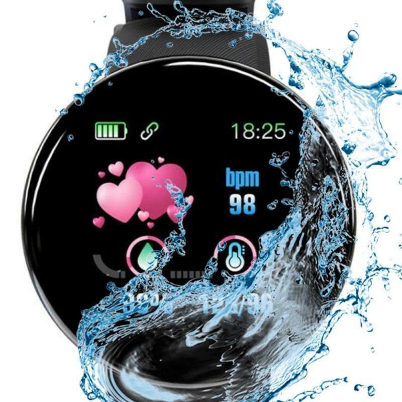 أحدث D18S BT 4.0 ساعة ذكية ضغط الدم Smartwatch IP65 مقاوم للماء الرياضة جهاز تتبع معدل ضربات القلب لأغراض اللياقة البدنية الساعات الذكية على مدار الساعة
