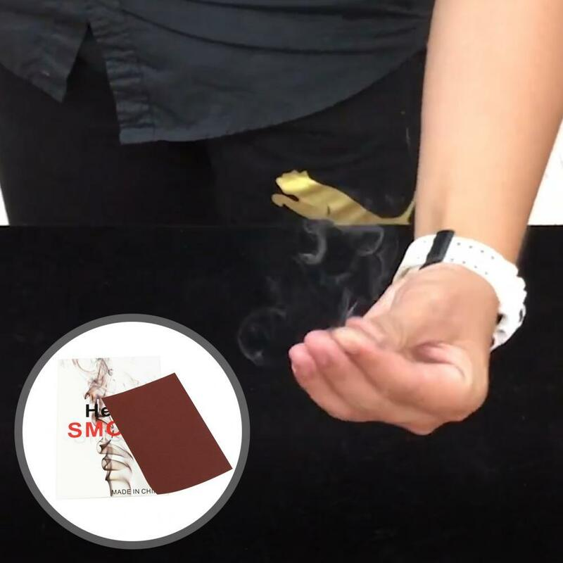 3 قطعة الدعامة السحرية مضحك غامض سليم ماجيك فنجر الدخان ورقة ل الساحر