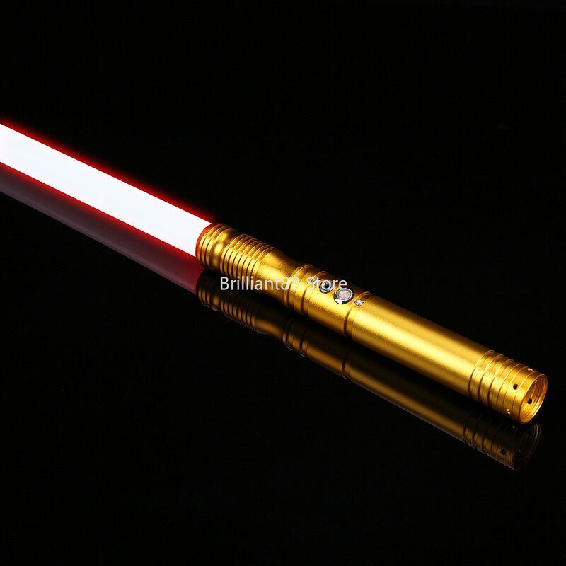 ليزر السيف مبارزة FOC مقبض معدني RGB ضوء صابر قوة FX 12 ألوان 6 خطوط الصوت الناسف قفل lightsaber-TS013