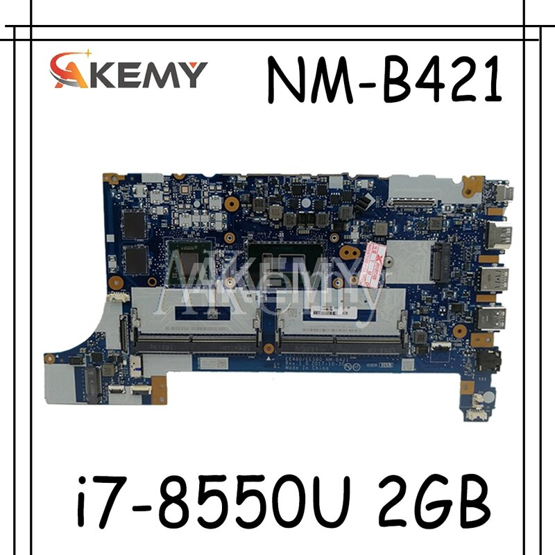 Akemy NM-B421 اللوحة الأم للكمبيوتر المحمول ثينك باد E480 E580 01LW922 اللوحة الرئيسية الأصلية 100% اختبارها بالكامل مع i7-8550U 2GB