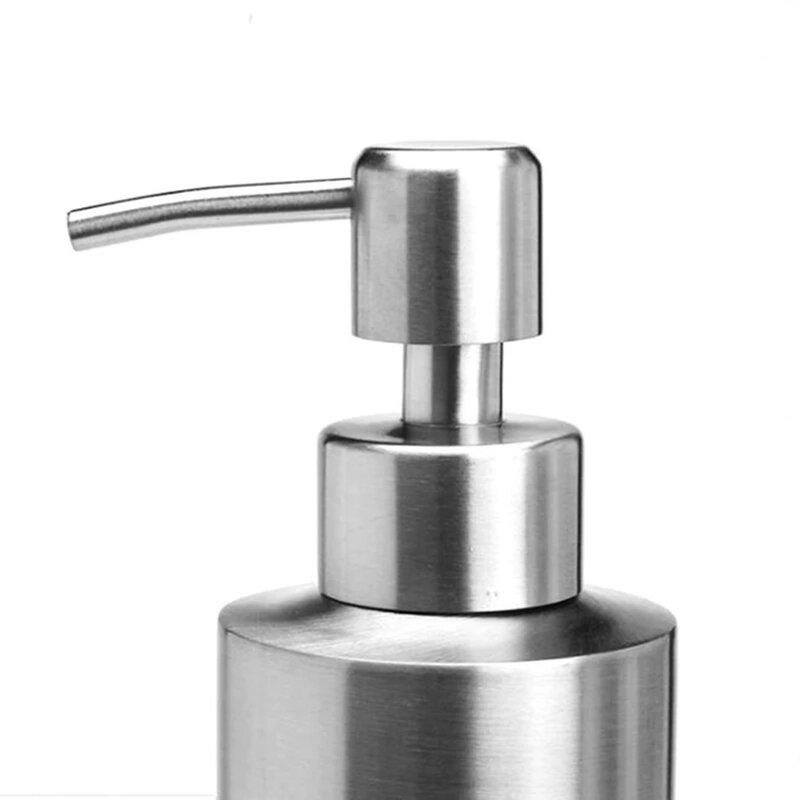 الفولاذ المقاوم للصدأ 350 مللي المطبخ موزع الصابون زجاجة مضخة موزع رغوة مستديرة ل صابون اليد السائل غسل المتابعة السائل غسول