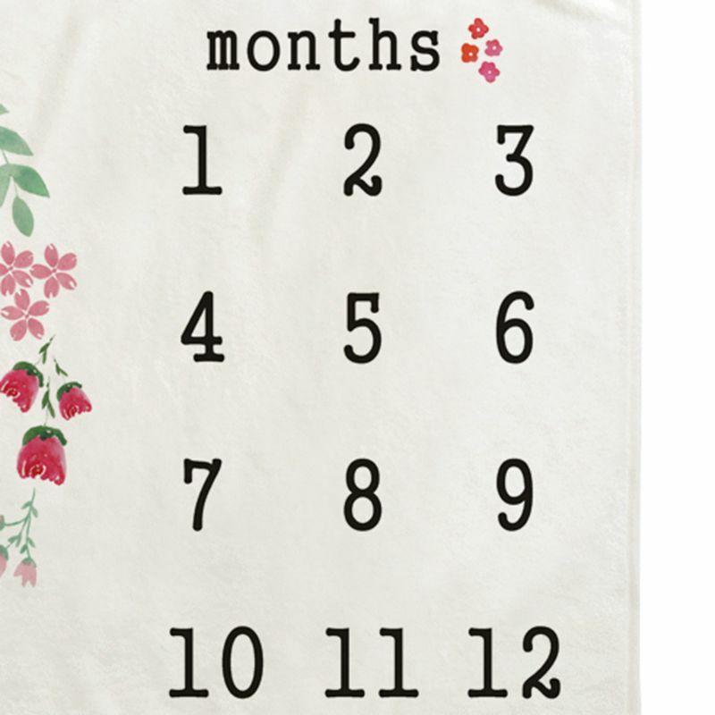 50LE الطفل الشهري سجل النمو معلم بطانية الوليد التصوير الدعائم إكليل الوليد صور الإبداعية خلفية القماش