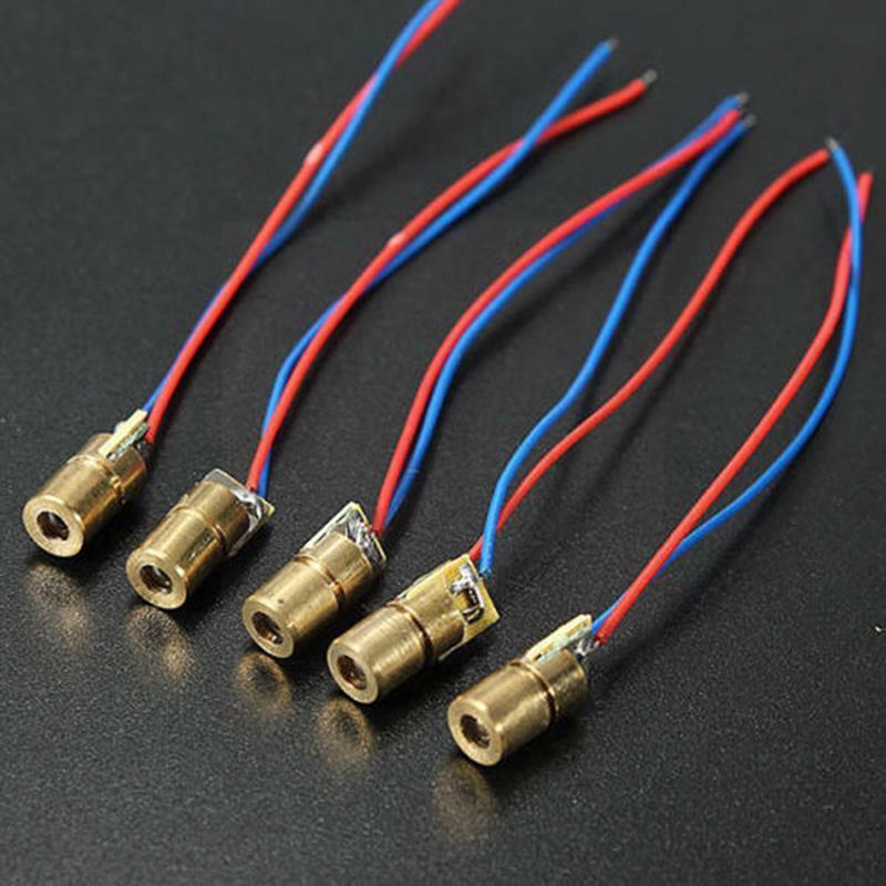 5 فولت رئيس ديود منقط النحاس أشباه الموصلات أنبوب 6 مللي متر الخارجي ديود قطر L8C6