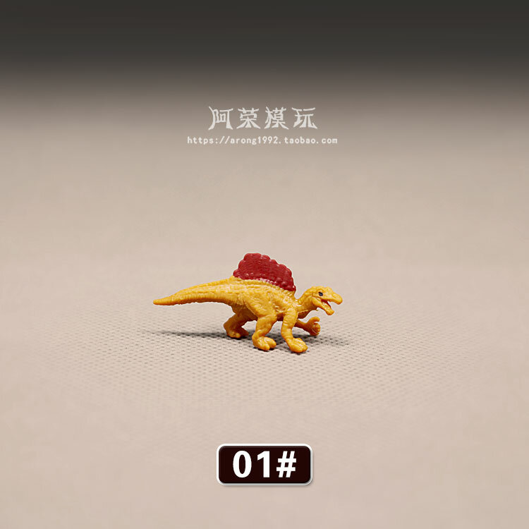 الحيوانات البرية ديناصور البرتقال كلوونفيش نموذج الجنية حديقة موس مصغرة الحصان تيرانوصور ديكور عمل الشكل تمثال اللعب