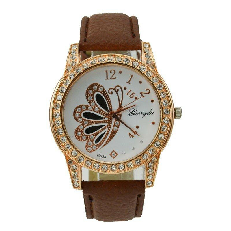 ساعات السيدات عادية كريستال نساء ساعات جلدية حزام ساعة كوارتز موضة نساء فستان ساعات السيدات الساعات reloj mujer