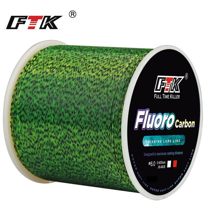 FTK خيط صنارة الصيد 300 متر غير مرئية البقع الكارب فلوروكربون خط 0.20 مللي متر-0.50 مللي متر 4.13LB-34.32LB سوبر قوية رصدت خط غرق
