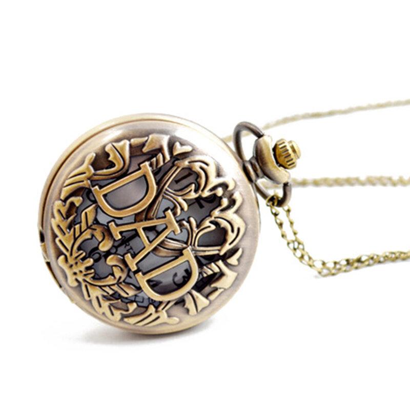 عيد الأب أبي ريترو الجوف صدفي ساعة جيب كوارتز المدمج في زر البطارية 377