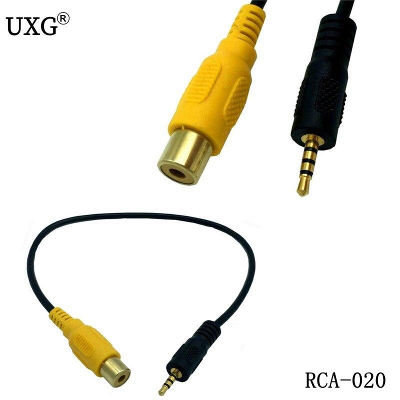 30 سنتيمتر/0.3m RCA إلى 2.5 مللي متر AV-IN كابل سيارة كاميرا للرؤية الخلفية لل GPS 2.5 مللي متر