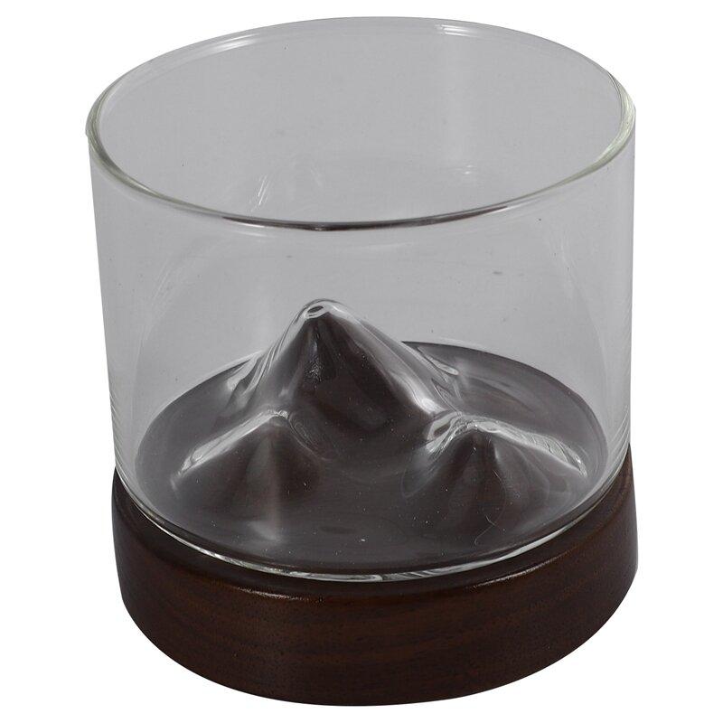 الايرلندي ويسكي كأس النبيذ الجبل الصغير مع قاعدة خشبية هدية فريدة كأس الزجاج ويسكي كوب البيرة بار فندق درينكوير كأس فنجان شاي Cu