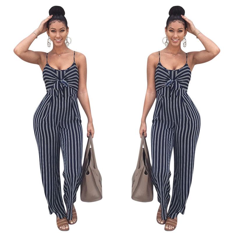 2021 صيف جديد ملابس نسائية مثير سليم صالح مخطط الرافعة القوس بذلة ملابس ملهى ليلي