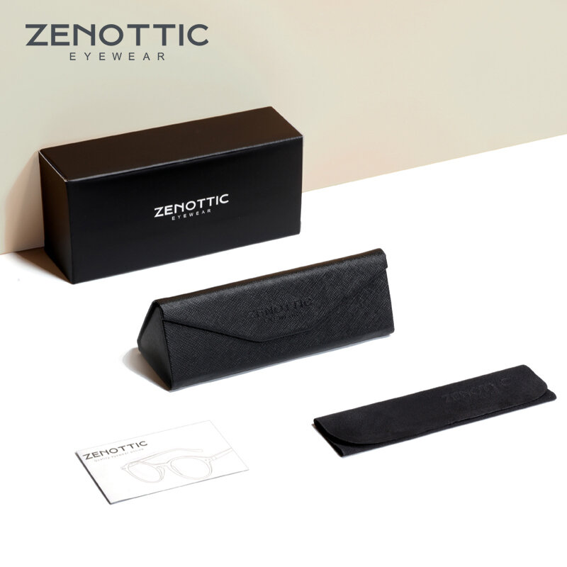 نظارات معدنية من ZENOTTIC بإطار من التيتانيوم مع ضوء أزرق وتحجب نظارات الكمبيوتر للنساء نظارات دراسة فائقة الخفة للرجال