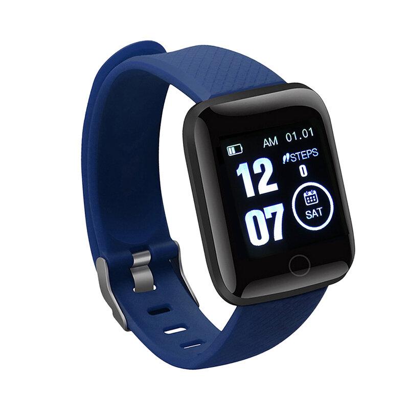 IP67 مقاوم للماء ساعة شاشة ملونة معدل ضربات القلب مراقبة ضغط الدم المسار حركة 116 زائد سوار ذكي ساعة