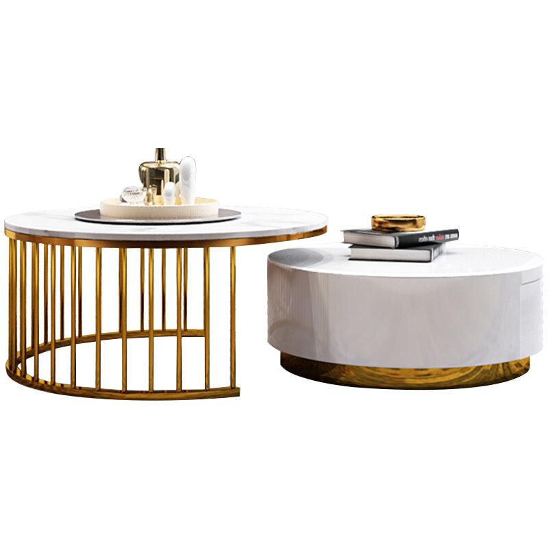 الحديث متعدد الحجم طاولة قهوة رخام طاولة ركن عدة تركيبات قرص من الرخام للمنضدة طقم طاولة القهوة