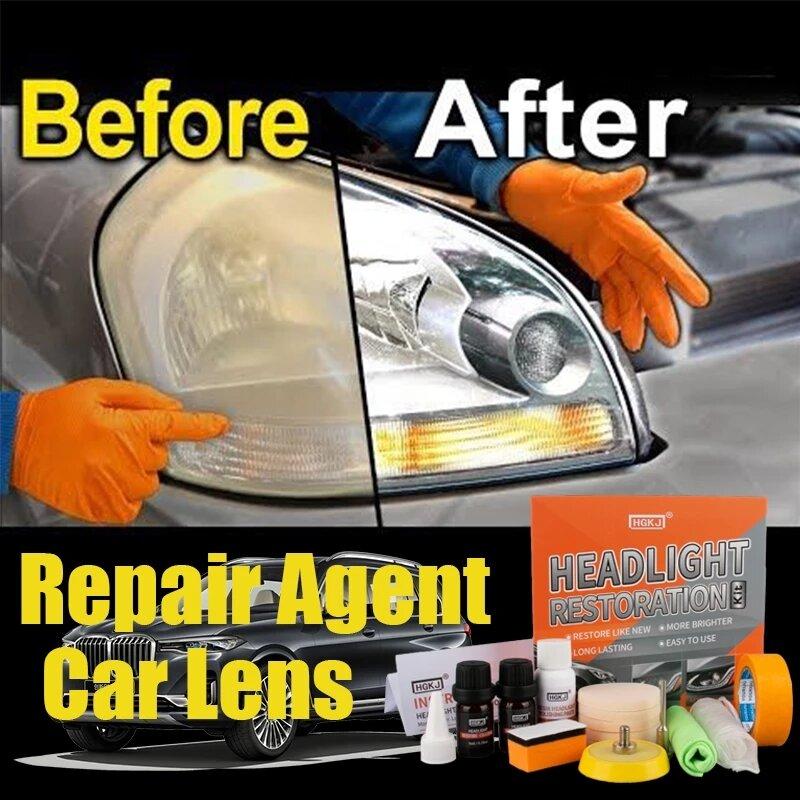 سيارة المصباح الملمع عدة للسيارة الضوء الخلفي المصابيح الأمامية إصلاح استعادة اشراق تجديد المبخر السائل البوليمر