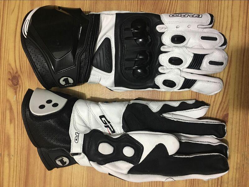 الكبار دراجة نارية طويلة قفازات موتو GP M1 سباق فريق القيادة قفازات جلد طبيعي دراجة نارية قفازات جلد البقر