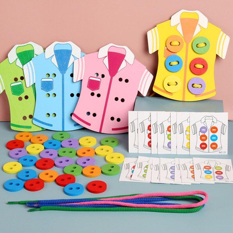 الإبداعية الدماغ لعبة الطاولة للأطفال أكثر من 4 سنوات الاطفال التفاعلية مونتيسوري لعبة اللعب جلد الملابس الجدول ألعاب