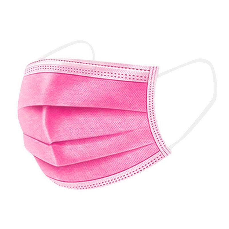 للجنسين قناع الوجه غطاء الغبار 3 طبقة الفم تصفية أقنعة الوردي 200 قطعة ماسكارا واقية الوردي Mascarillas هالوين تأثيري L * 5