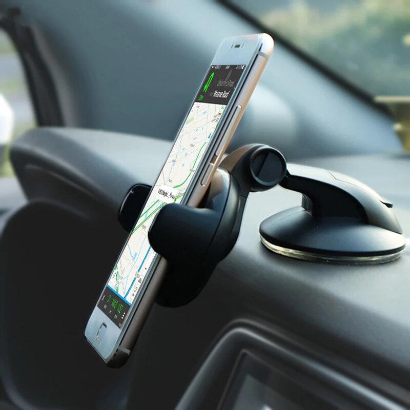 عالمي حامل هاتف السيارة المحمول للهاتف في حامل سيارة الزجاج الأمامي حامل الخليوي دعم الهاتف الذكي voiture Suporte بورتا سللار