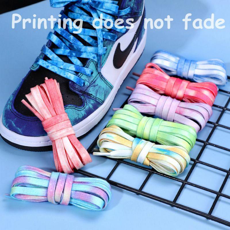 2021 جديد التعادل صبغ غير يتلاشى أربطة الحذاء حذاء مسطح أحذية رياضية حذاء كرة السلة حذاء كاجوال الأطفال للجنسين أربطة الحذاء