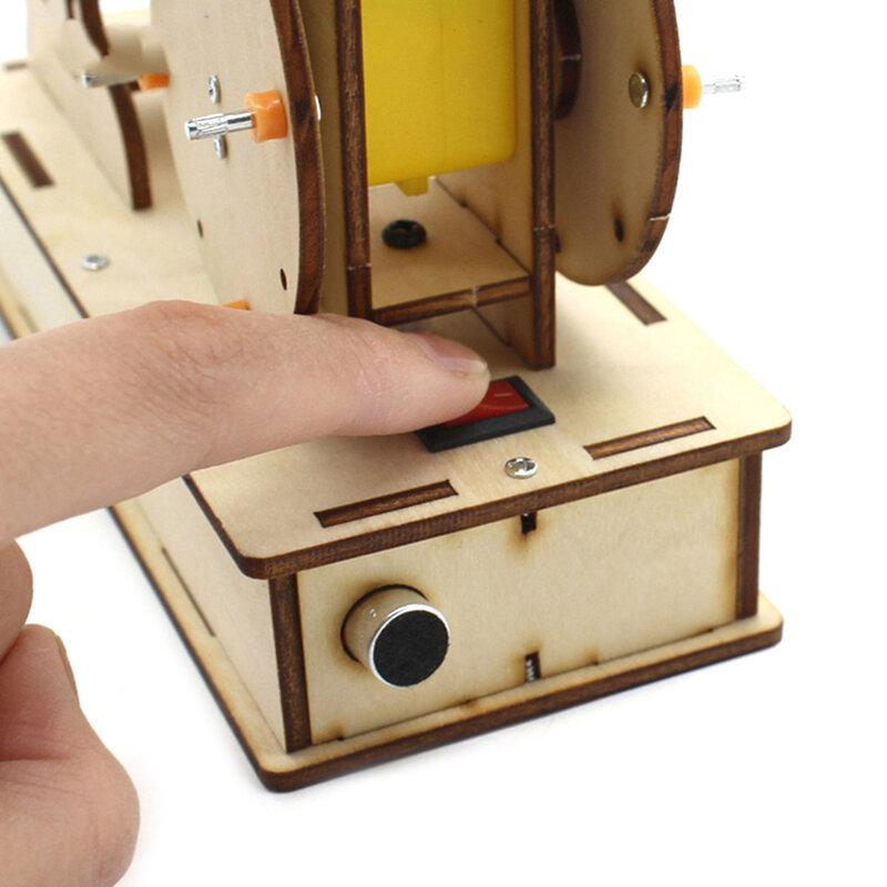 لتقوم بها بنفسك التحكم الصوتي روبوت للأطفال التعليمية العلوم تجربة التكنولوجيا لعبة لتقوم بها بنفسك اليدوية الطبال نموذج لعب الاطفال