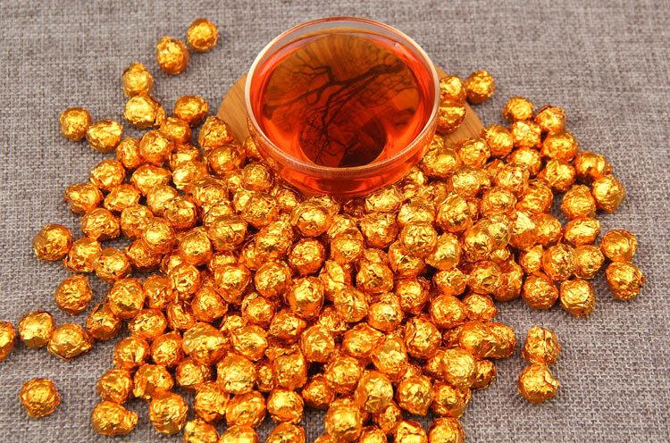 100 جرام الصين يوننان الناضجة الشاي الذهب القصدير احباط التعبئة الراتنج الشاي بوير تشا غاو