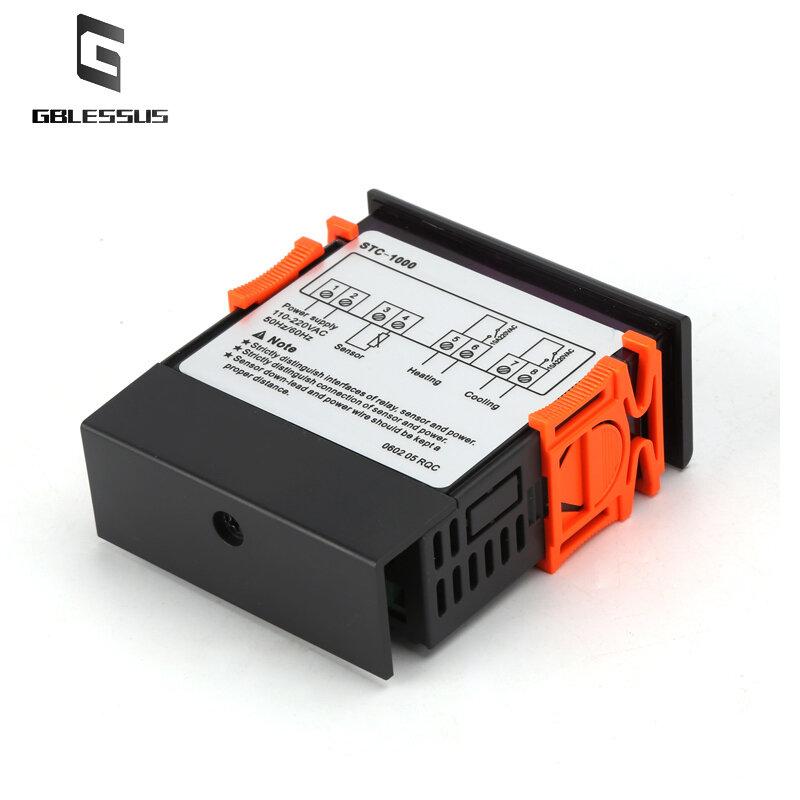 STC-1000 منظم الحرارة حاضنة التتابع التدفئة التبريد 10A الرقمية متحكم في درجة الحرارة ترموستات 12 فولت 24 فولت 220 فولت