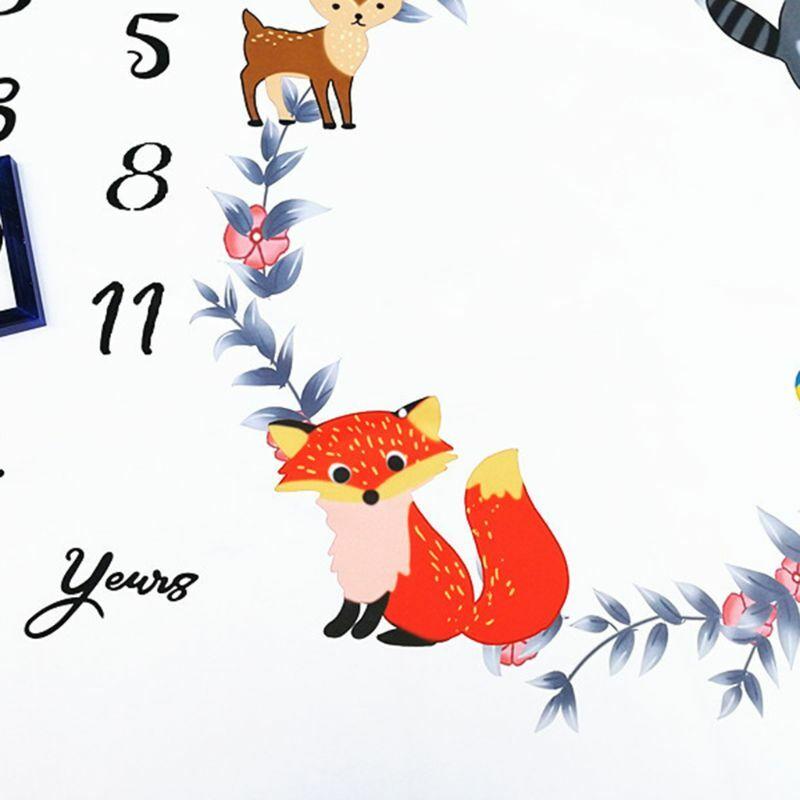 50LE الوليد الطفل معلم عدد لطيف الحيوانات نمط حصيرة بطانية التصوير خلفية خلفية القماش