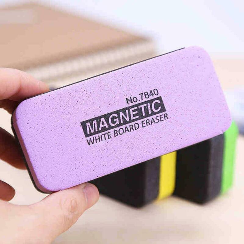 1 قطعة لون عشوائي السبورة ممحاة المغناطيسي الأبيض مكتب مدرسة أداة 2021 الإبداعية ماركر الأخضر نظافة السبورة ممحاة O9H5