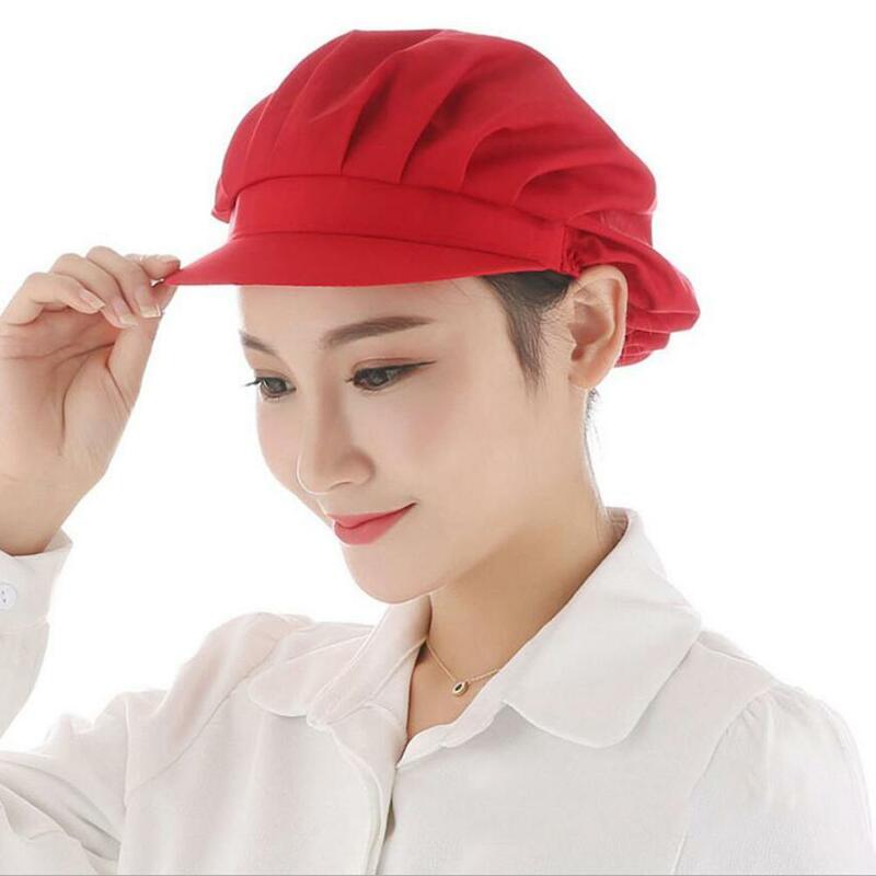 للجنسين شبكة مطاطية قبعات مقهى بار المطبخ مطعم فندق مخبز النادل الشيف العمل ارتداء القبعات الرجال النساء تنفس ورشة عمل قبعات