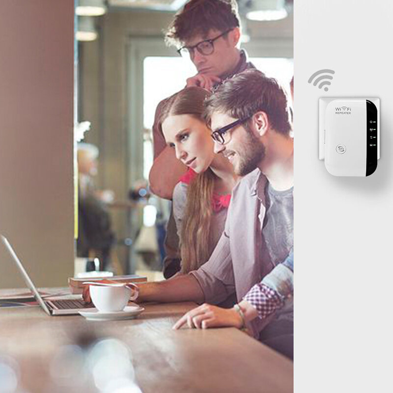 واي فاي مكرر لاسلكي واي فاي موسع مُعزز إشارة WiFi شبكة مكبر للصوت 300Mbps مكبر للصوت دعم WPS AP وظيفة مكرر