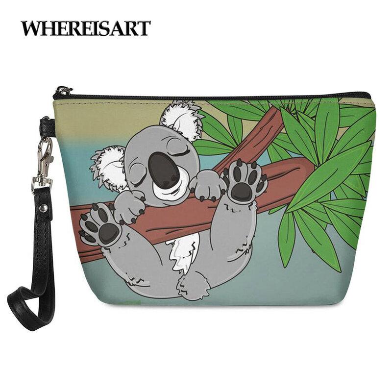 6isart-حقيبة مكياج بطبعة كوالا للنساء ، حقيبة مكياج ، حقيبة أدوات الزينة ، منظم السفر