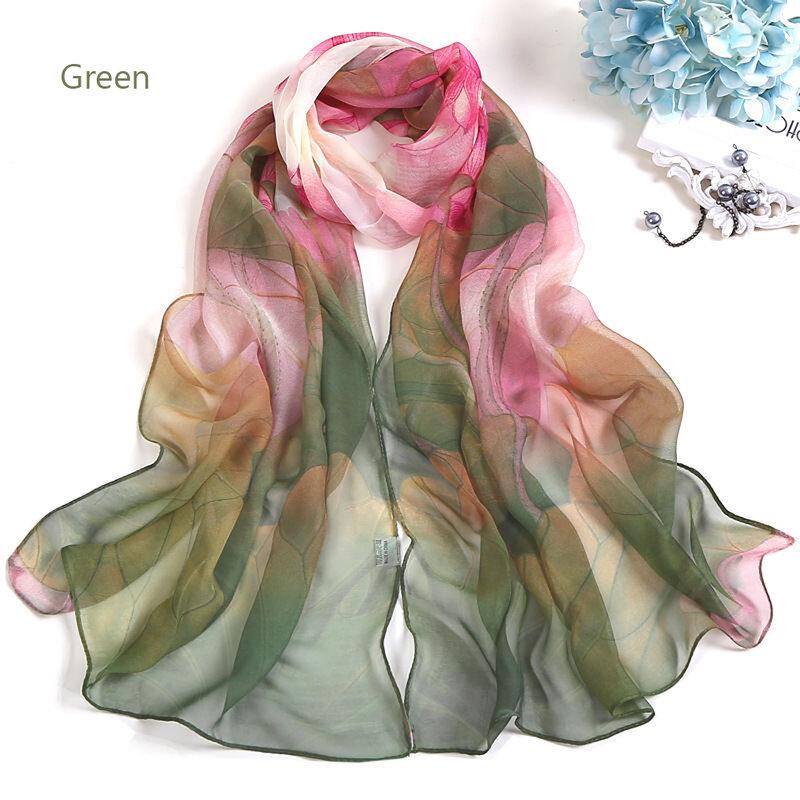 2021 موضة الصيف النساء وشاح حريري الأزهار طباعة شاطئ صوفية الأوشحة رقيقة شالات و يلتف الحجاب الإناث foulard soie bufanda