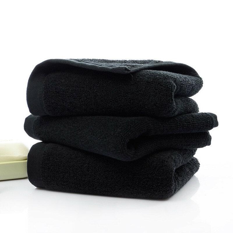 35*75 سنتيمتر المناشف السوداء الصلبة القطن تنظيف منشفة المنزل المطبخ العناية بالسيارات تلميع سوبر سميكة أفخم ستوكات سيارة تنظيف الملابس